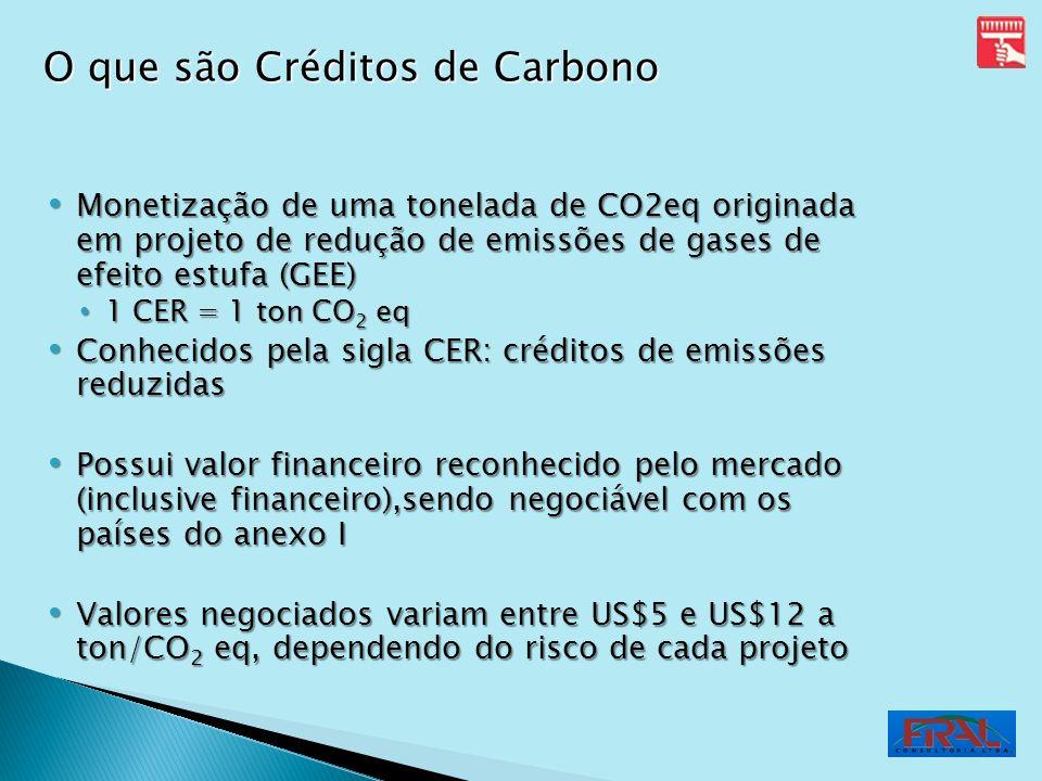 Monetização de uma tonelada de CO2eq originada em projeto de redução de emissões de gases de efeito estufa (GEE) Monetização de uma tonelada de CO2eq