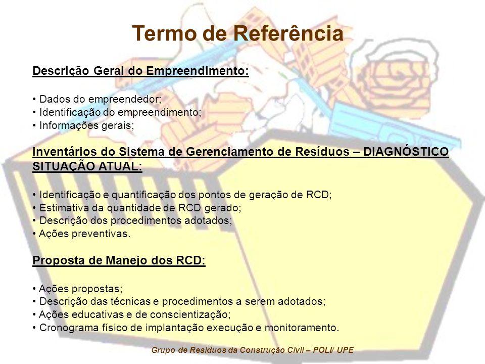 Termo de Referência Descrição Geral do Empreendimento: Dados do empreendedor; Identificação do empreendimento; Informações gerais; Inventários do Sist