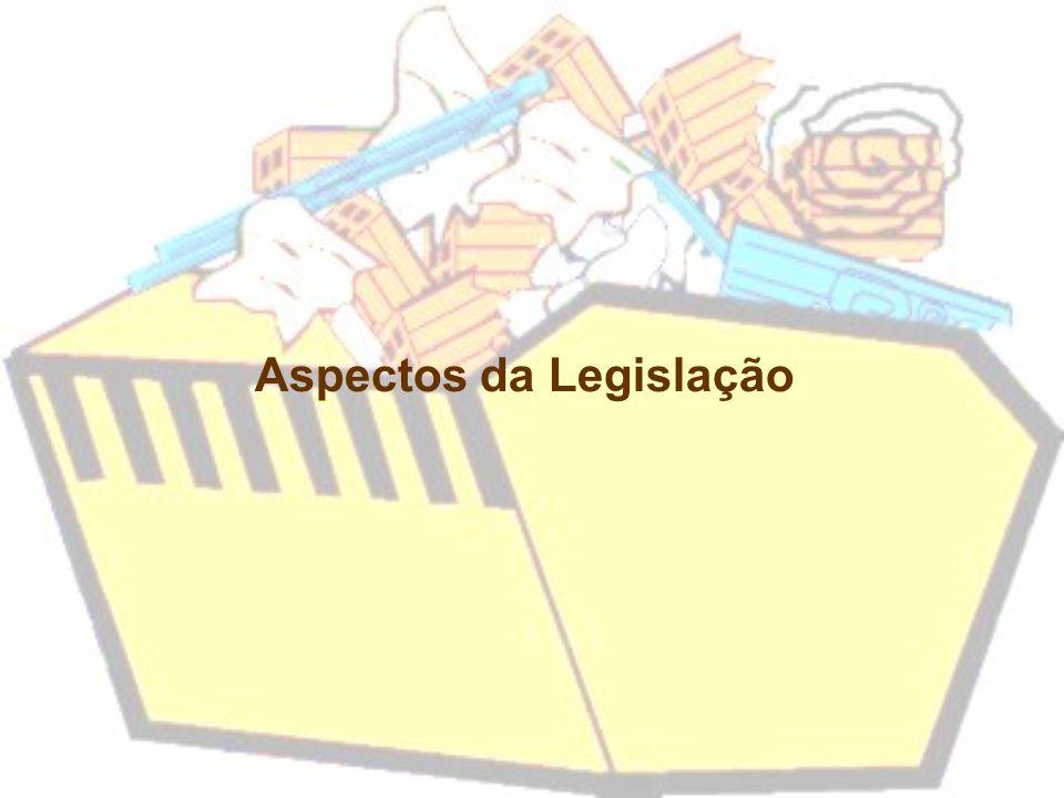 Resíduos da Construção e Demolição (RCDs): –Construções –Reformas e reparos –Demolições –Escavação de terrenos Conceitos
