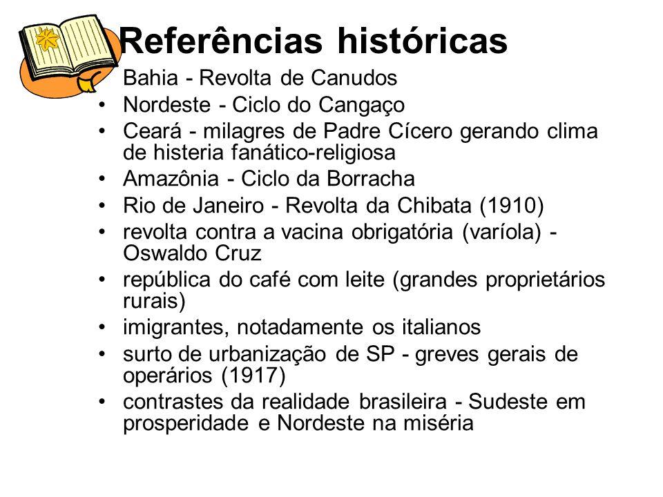 Características a ruptura com a linguagem pomposa parnasiana; a exposição da realidade social brasileira; o regionalismo; a marginalidade exposta nas personagens e associação aos fatos políticos, econômicos e sociais.