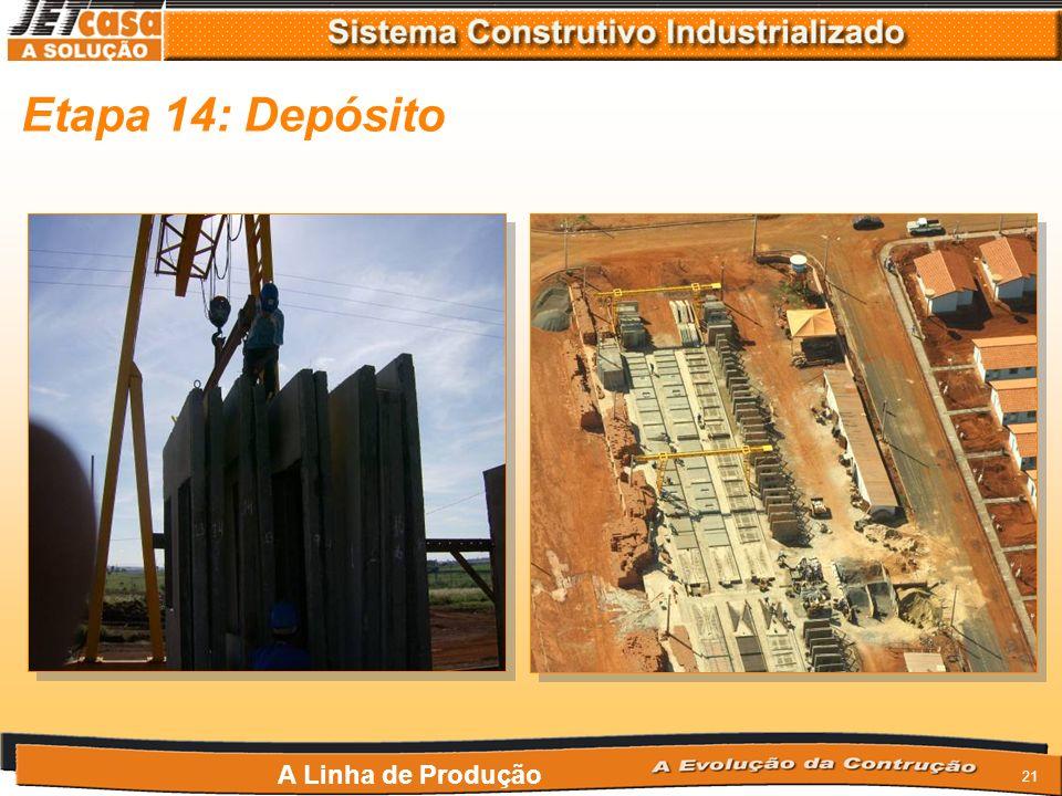 20 Etapa 13: Revestimento vertical A Linha de Produção