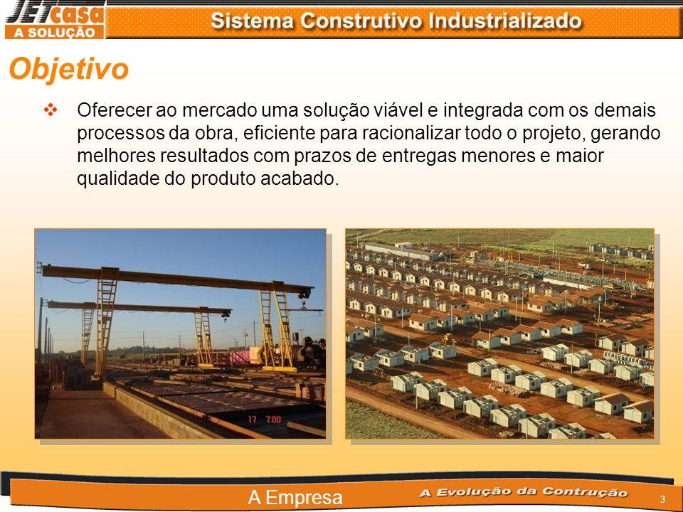 33 Vantagens em relação à: Processo Construtivo Mão de Obra Meio Ambiente Materiais Logistica Garantias e Certificações Custos Qualidade do produto acabado Vantagens do Sistema