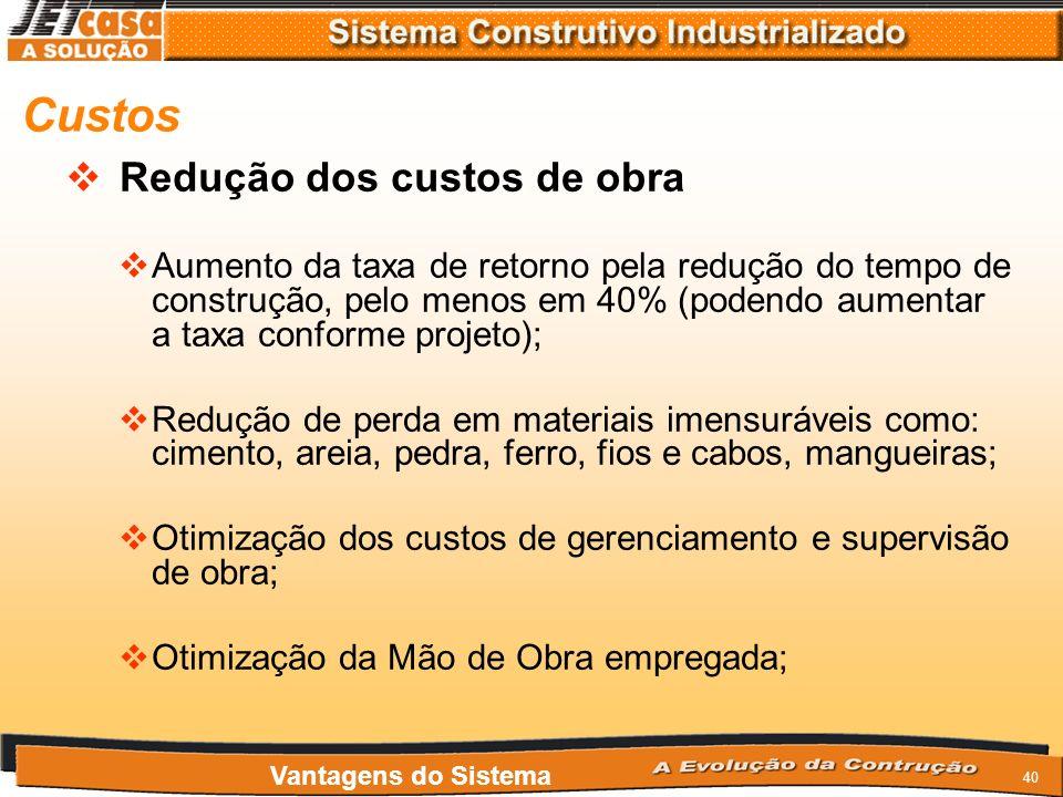 39 Garantias e Certificações Referencia Técnica pelo IPT Painéis Cerâmicos Pré-Fabricados RT21A Aprovado pela CEF Aprovado pelo FNDE Aprovado pelo CDH