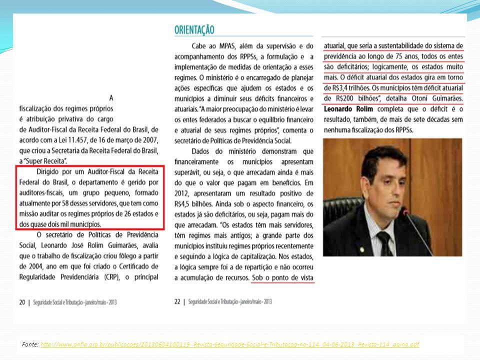 Fonte: http://www.anfip.org.br/publicacoes/20130604100119_Revista-Seguridade-Social-e-Tributacao-no-114_04-06-2013_Revista-114_pgina.pdfhttp://www.anf