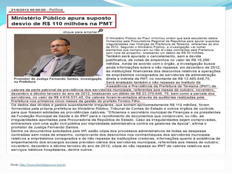 Fonte: http://www.diariodopovo-pi.com.br