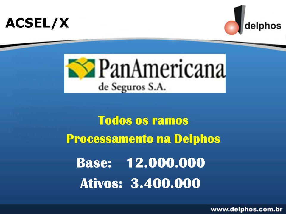 ACSEL/X Todos os ramos Processamento na Delphos Base:12.000.000 Ativos: 3.400.000