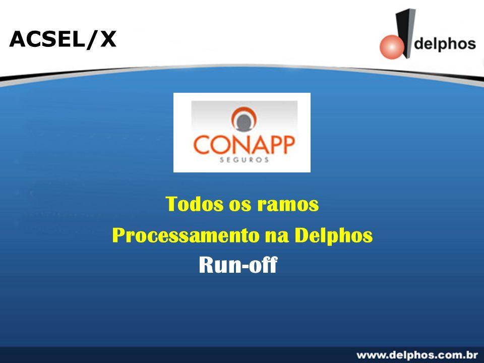 ACSEL/X Todos os ramos Processamento na Delphos Run-off