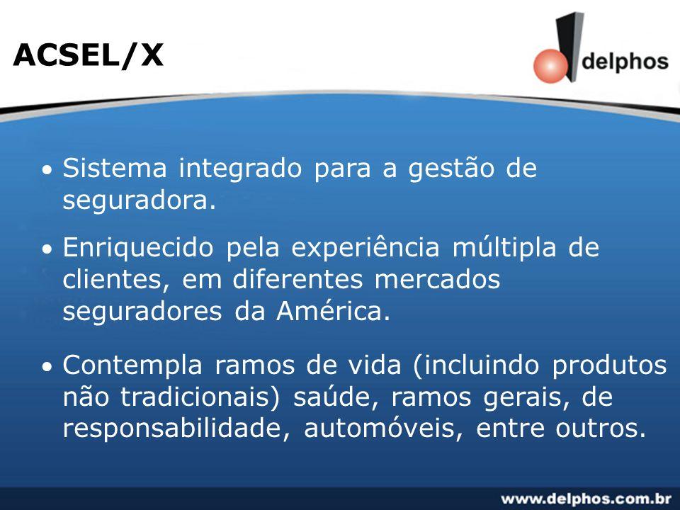 Sistema integrado para a gestão de seguradora. Enriquecido pela experiência múltipla de clientes, em diferentes mercados seguradores da América. Conte