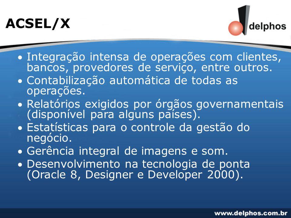 Integração intensa de operações com clientes, bancos, provedores de serviço, entre outros. Contabilização automática de todas as operações. Relatórios