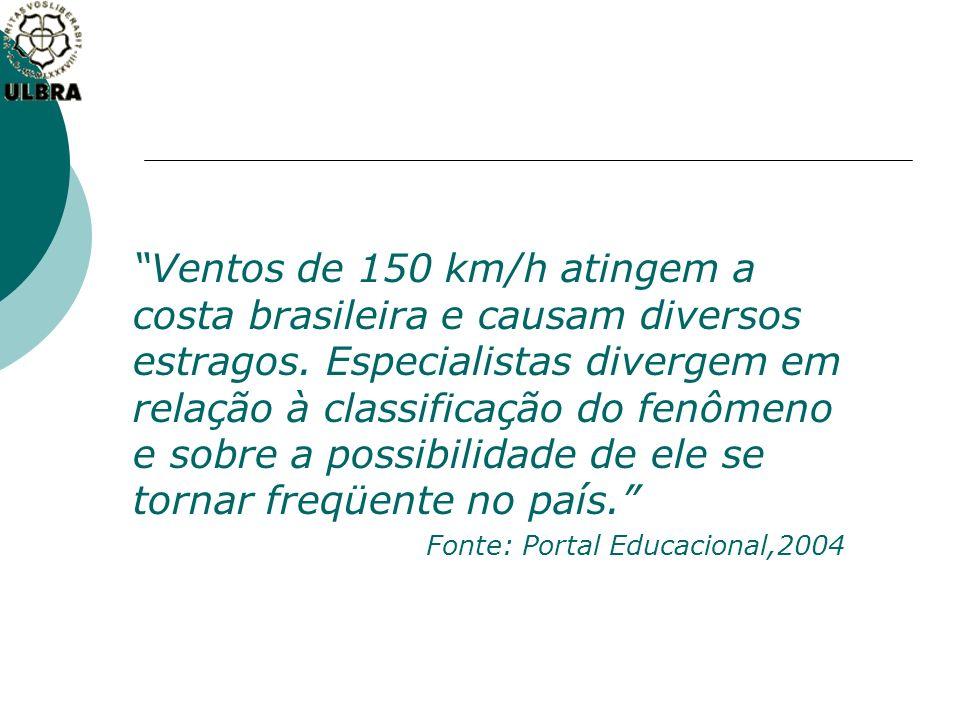 Ventos de 150 km/h atingem a costa brasileira e causam diversos estragos. Especialistas divergem em relação à classificação do fenômeno e sobre a poss