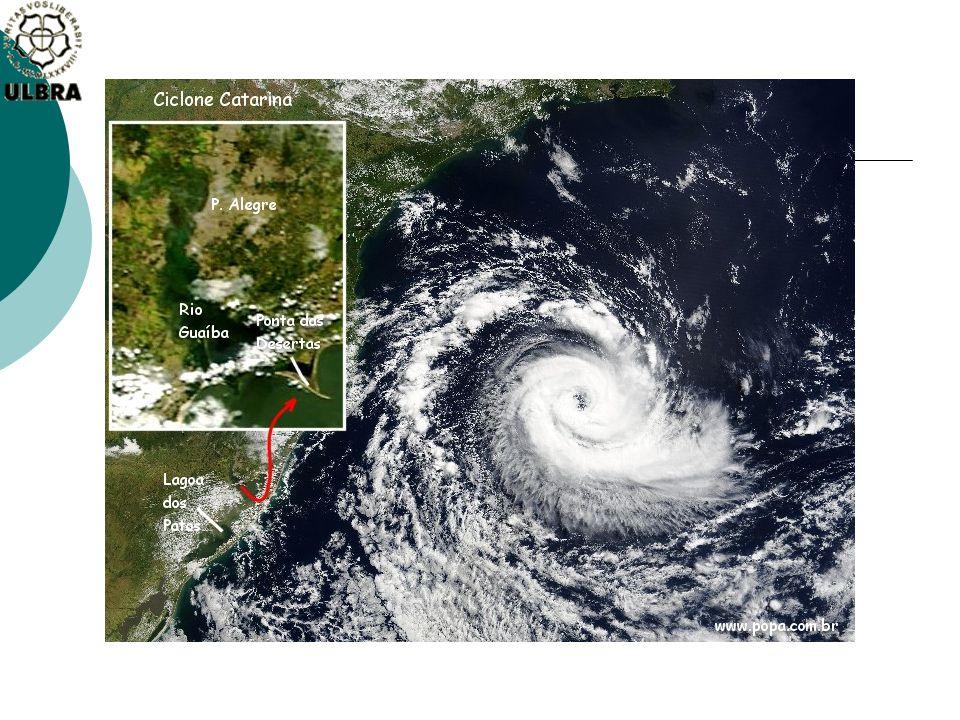 A diferença de Ciclone Extratropical e Furacão.