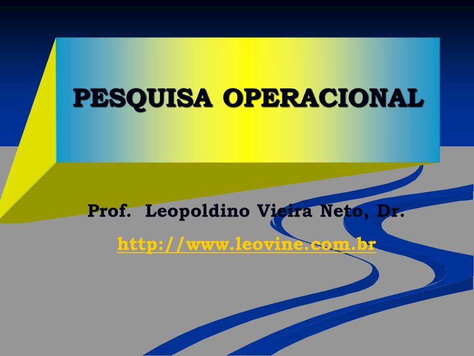 PESQUISA OPERACIONAL Prof. Leopoldino Vieira Neto, Dr. http://www.leovine.com.br