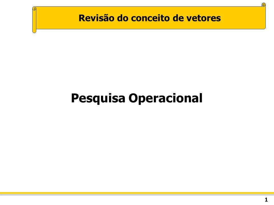 1 Revisão do conceito de vetores Pesquisa Operacional