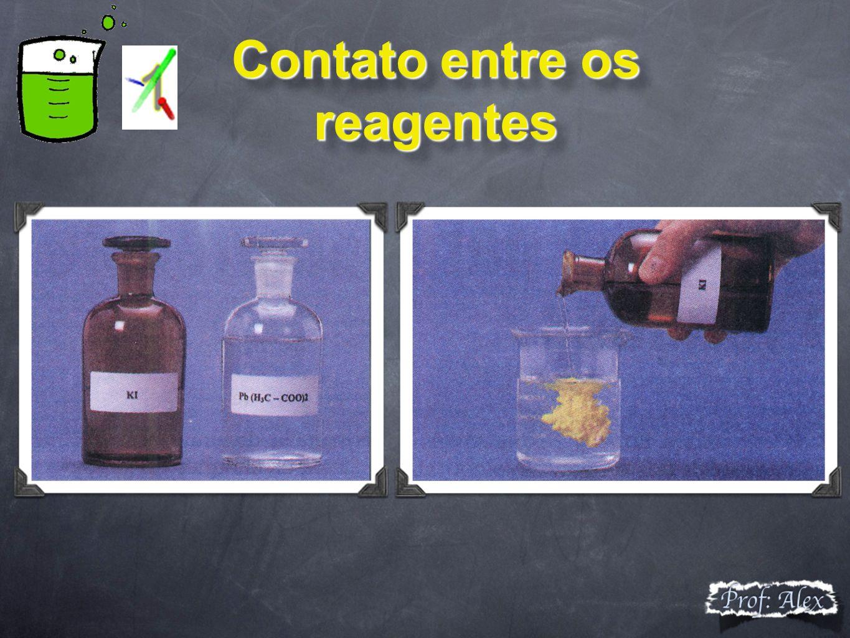 Contato entre os reagentes Contato entre os reagentes