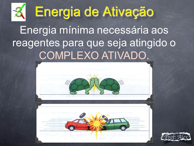 Energia de Ativação Energia de Ativação Energia mínima necessária aos reagentes para que seja atingido o COMPLEXO ATIVADO.