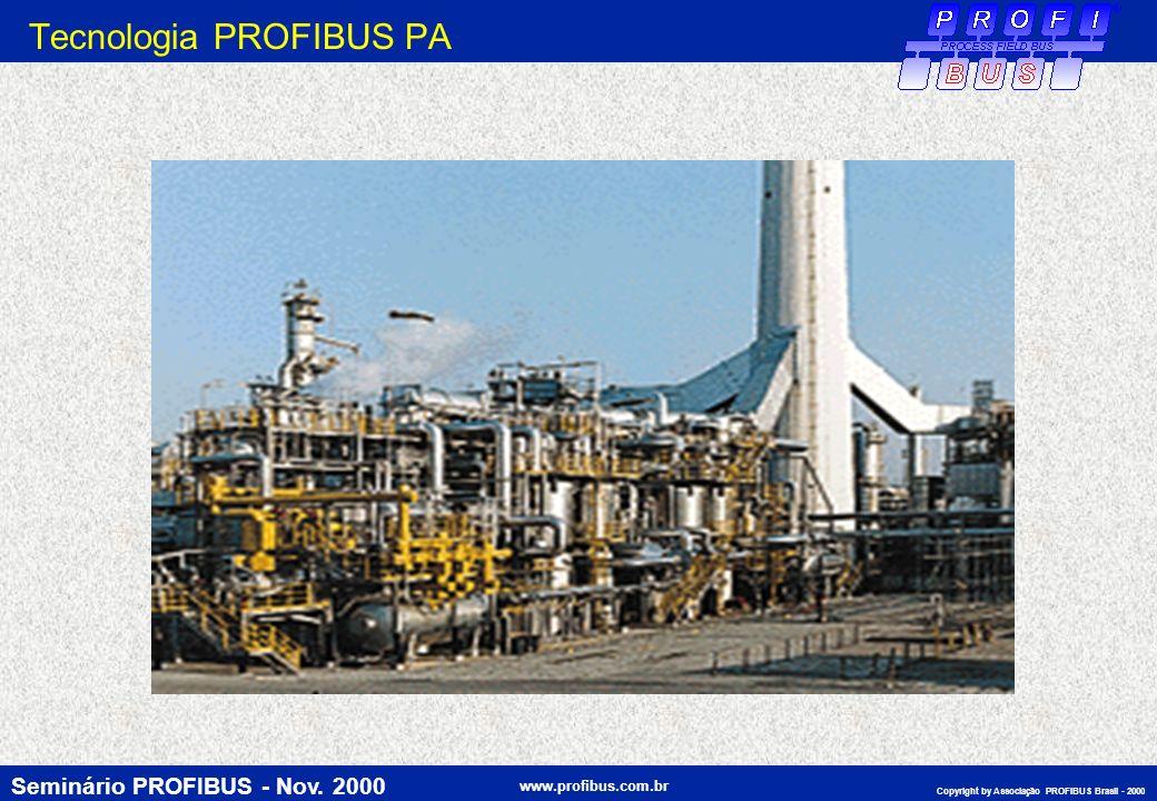 Seminário PROFIBUS - Nov. 2000 www.profibus.com.br Copyright by Associação PROFIBUS Brasil - 2000 Tecnologia PROFIBUS PA