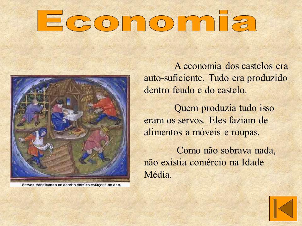 A economia dos castelos era auto-suficiente.Tudo era produzido dentro feudo e do castelo.