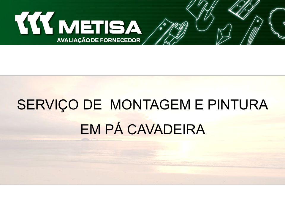 AVALIAÇÃO DE FORNECEDOR SERVIÇO DE MONTAGEM E PINTURA EM PÁ CAVADEIRA