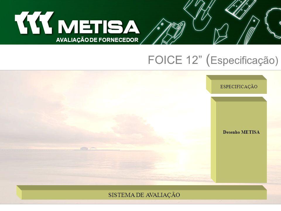 AVALIAÇÃO DE FORNECEDOR FOICE 12 ( Especificação)