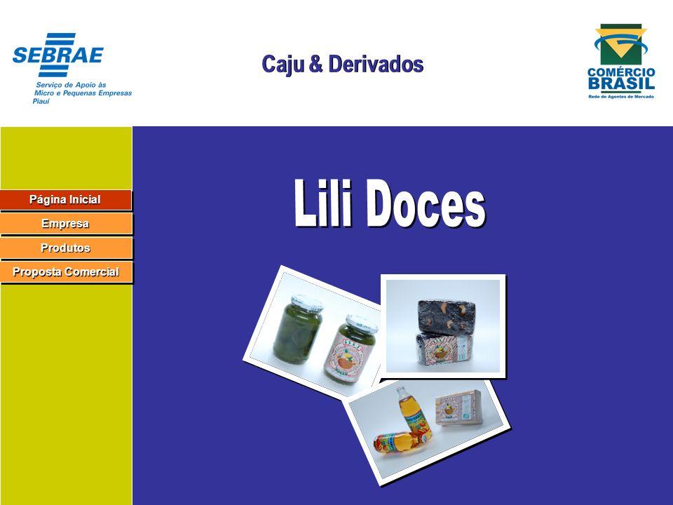 Página Inicial Página Inicial Página Inicial Página Inicial Empresa Produtos Proposta Comercial Proposta Comercial Proposta Comercial Proposta Comercial Razão Social: Lili Doces Ltda.