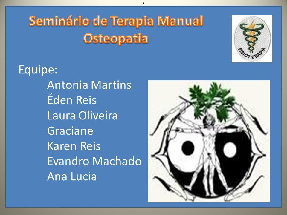 A terapia manual se tornou um importante componente na intervenção de doenças ortopédicas e neurológicas hoje consi- derada uma área de especialização da fisioterapia.