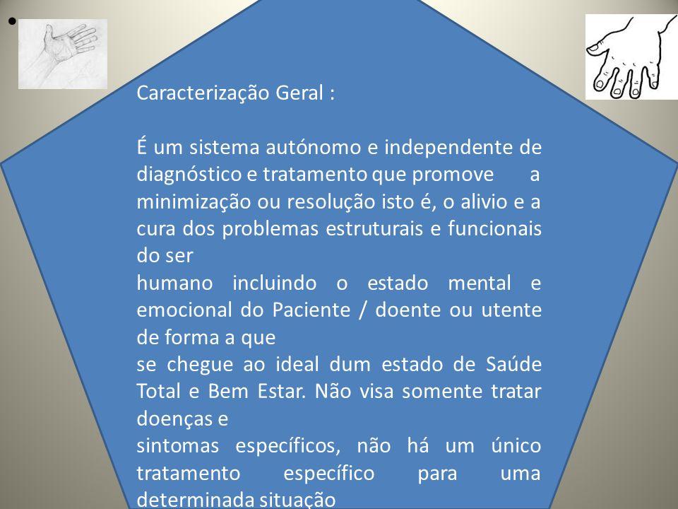 .. Caracterização Geral : É um sistema autónomo e independente de diagnóstico e tratamento que promove a minimização ou resolução isto é, o alivio e a