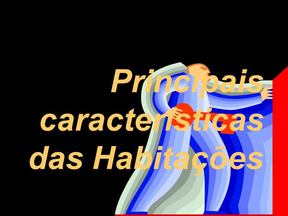Principais características das Habitações