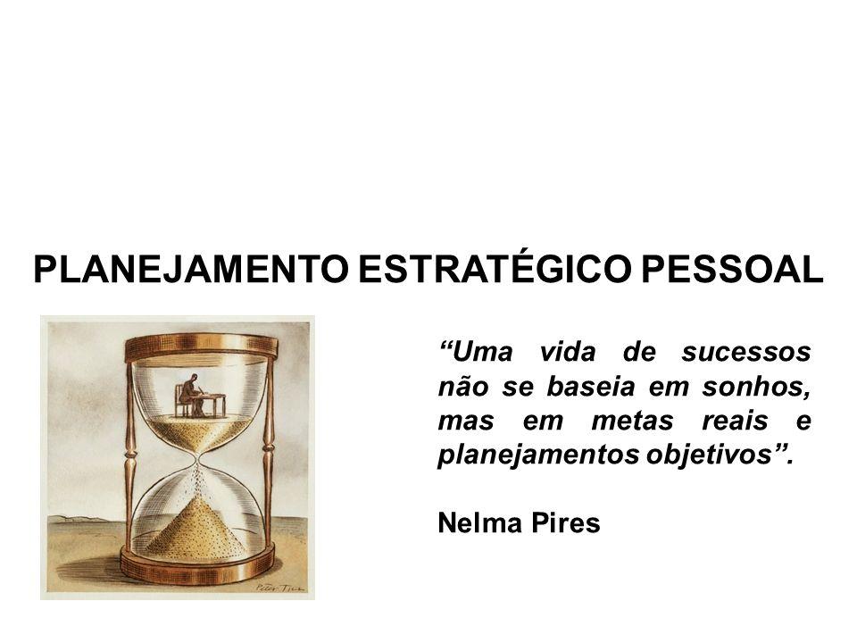 PLANEJAMENTO ESTRATÉGICO PESSOAL Uma vida de sucessos não se baseia em sonhos, mas em metas reais e planejamentos objetivos. Nelma Pires