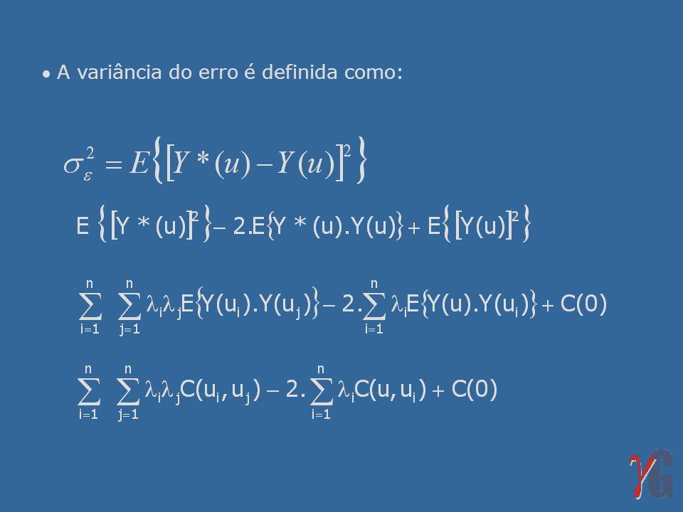 A variância do erro é definida como: