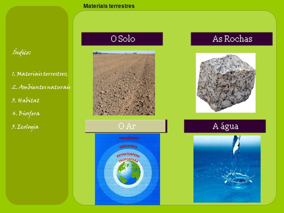 Materiais terrestres Índice: 1.Materiais terrestres; 2.