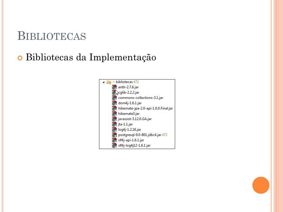 B IBLIOTECAS Bibliotecas da Implementação