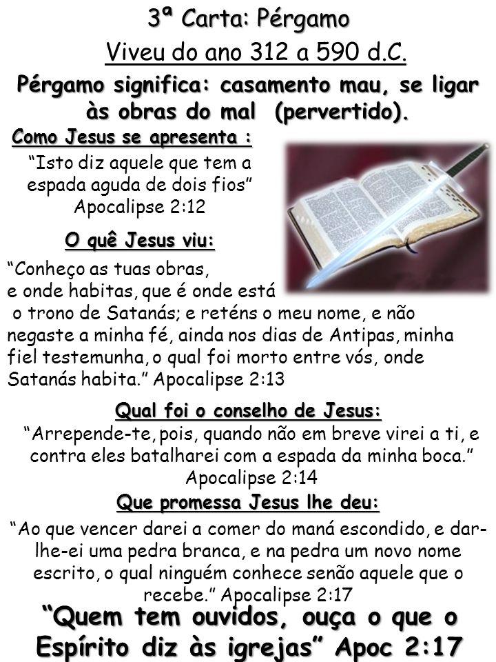 O quê Jesus viu: Conheço as tuas obras, e onde habitas, que é onde está o trono de Satanás; e reténs o meu nome, e não negaste a minha fé, ainda nos d