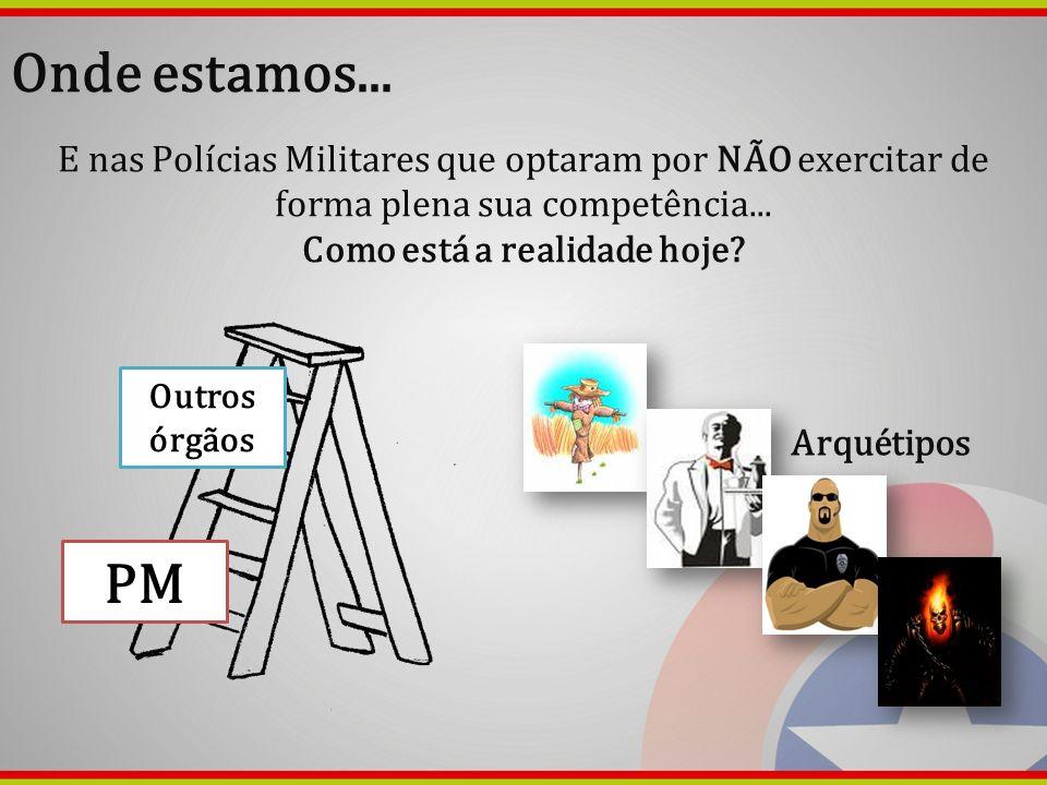 Onde estamos... E nas Polícias Militares que optaram por NÃO exercitar de forma plena sua competência... Como está a realidade hoje? PM Outros órgãos