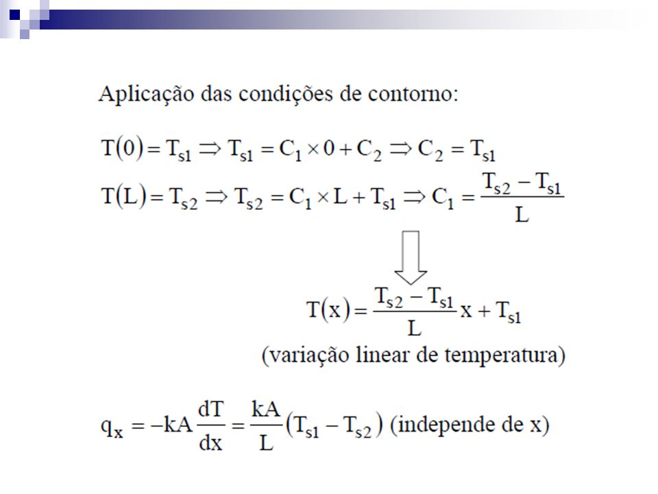 Coeficiente Global de Troca Térmica onde T é a diferença global de temperatura.