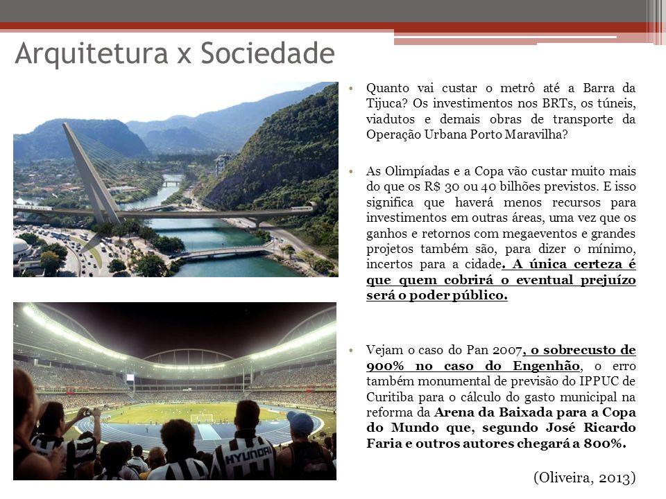 Arquitetura x Sociedade Quanto vai custar o metrô até a Barra da Tijuca? Os investimentos nos BRTs, os túneis, viadutos e demais obras de transporte d