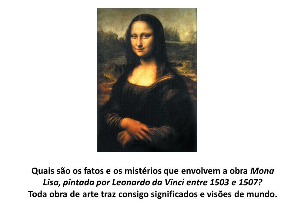 Quais são os fatos e os mistérios que envolvem a obra Mona Lisa, pintada por Leonardo da Vinci entre 1503 e 1507.