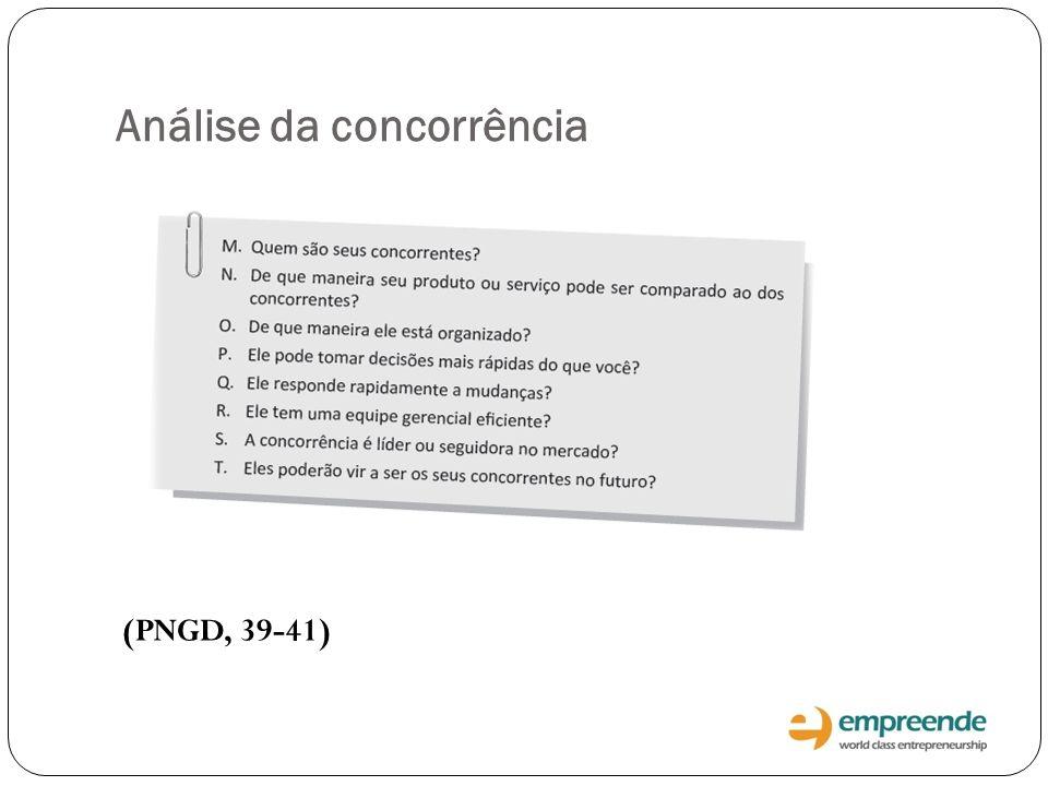 Análise da concorrência (PNGD, 39-41)