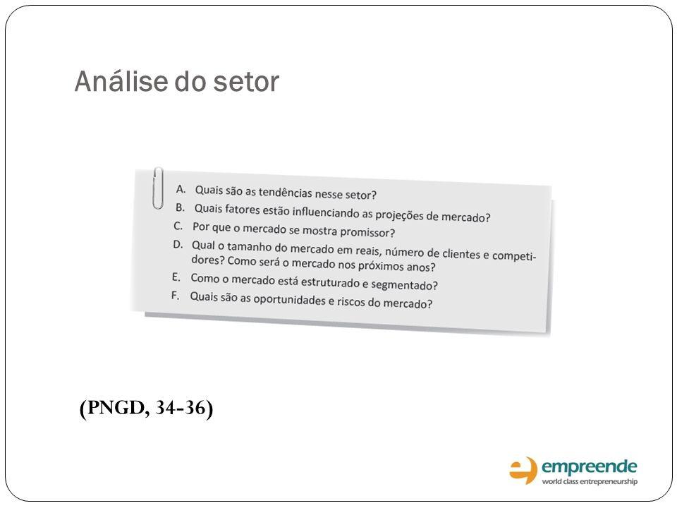 Análise do setor (PNGD, 34-36)