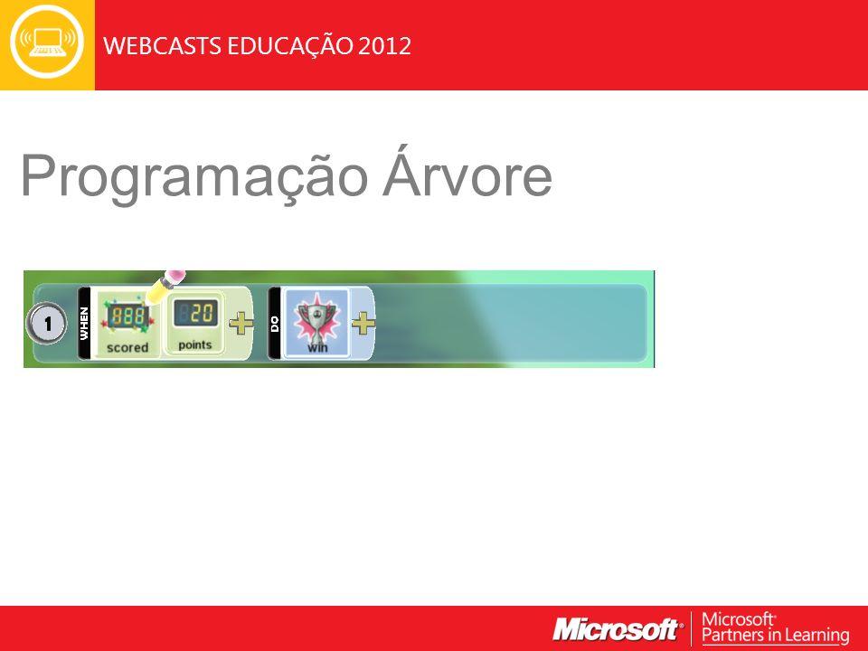 WEBCASTS EDUCAÇÃO 2012 Programação Árvore