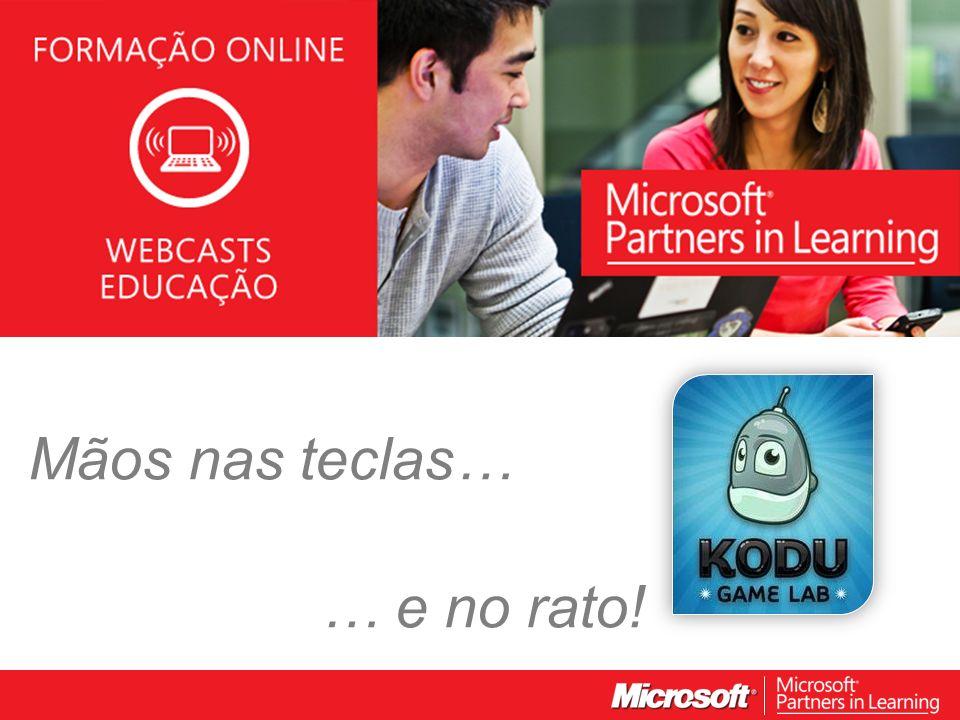 WEBCASTS EDUCAÇÃO 2012 Mãos nas teclas… … e no rato!