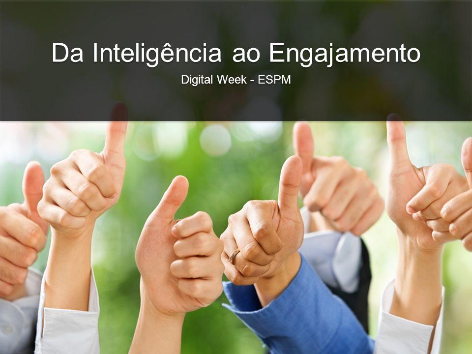 Da Inteligência ao Engajamento Digital Week - ESPM Da Inteligência ao Engajamento Digital Week - ESPM