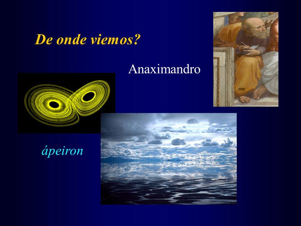 De onde viemos? Anaximandro ápeiron
