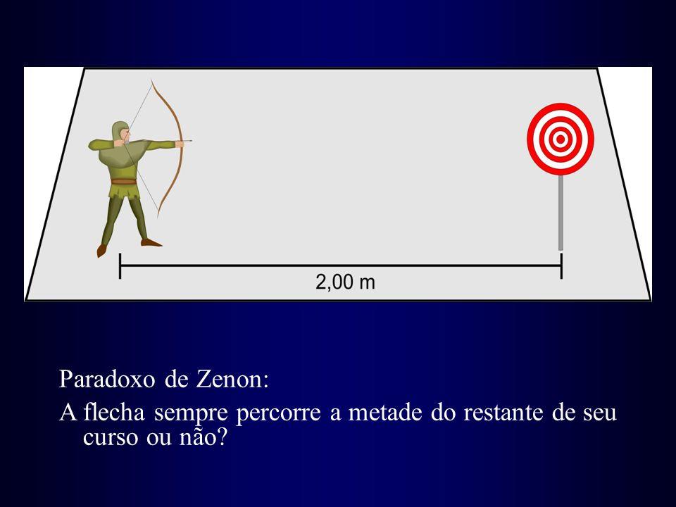 Paradoxo de Zenon: A flecha sempre percorre a metade do restante de seu curso ou não?