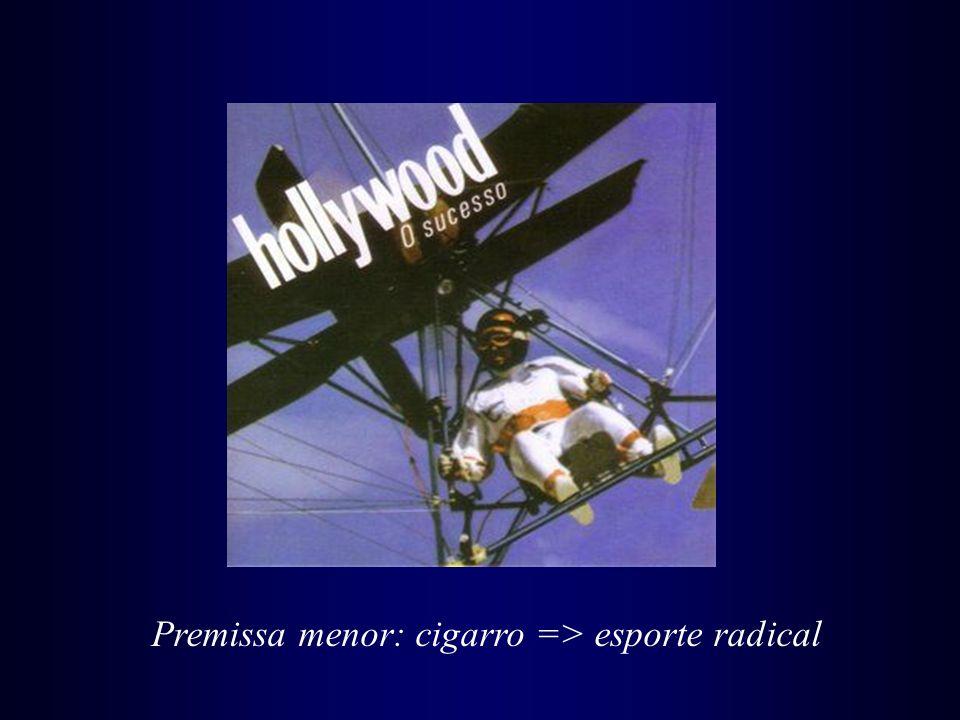 Premissa menor: cigarro => esporte radical