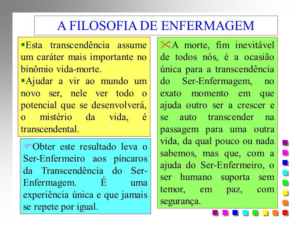 Esta transcendência assume um caráter mais importante no binômio vida-morte.