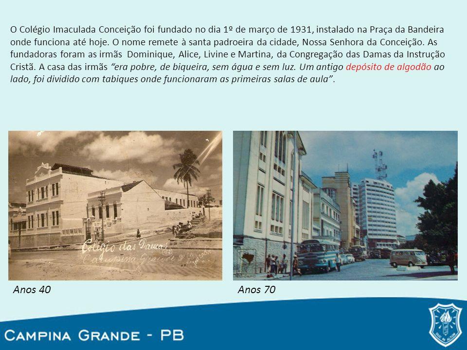 O Colégio Imaculada Conceição foi fundado no dia 1º de março de 1931, instalado na Praça da Bandeira onde funciona até hoje. O nome remete à santa pad