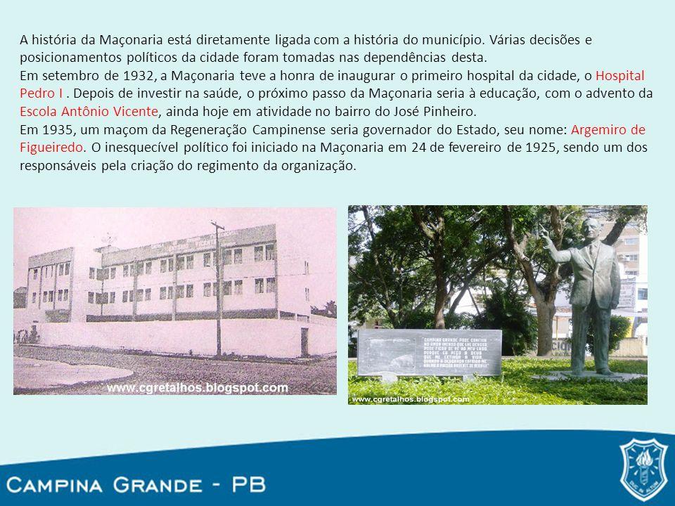 A história da Maçonaria está diretamente ligada com a história do município. Várias decisões e posicionamentos políticos da cidade foram tomadas nas d