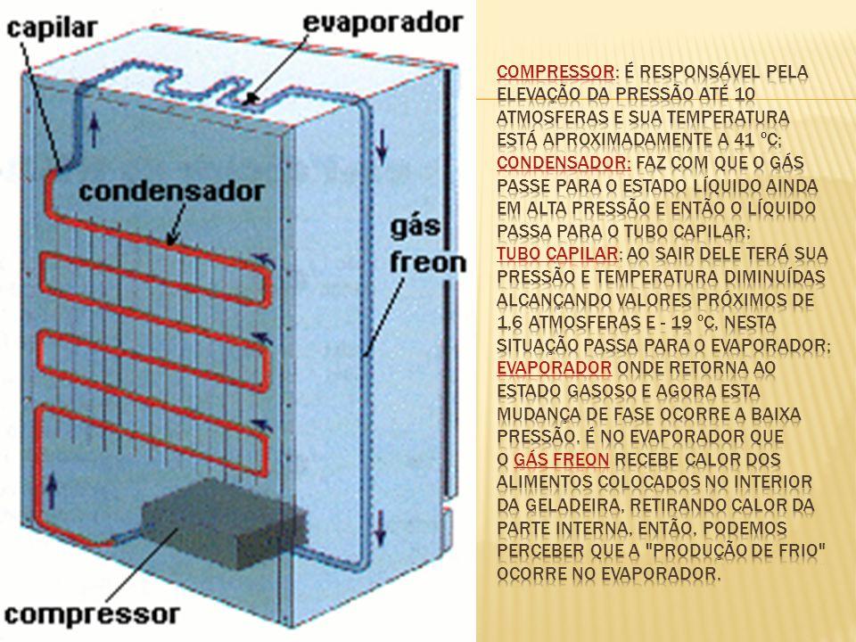 o gás CFC (CloroFluorCarboneto), mas pararam hoje utilizam Freon.