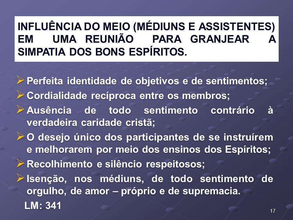 INFLUÊNCIA DO MEIO (MÉDIUNS E ASSISTENTES) EM UMA REUNIÃO PARA GRANJEAR A SIMPATIA DOS BONS ESPÍRITOS.
