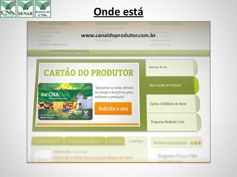 Onde está www.canaldoprodutor.com.br
